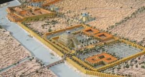 Az ősi Babilon látképe.